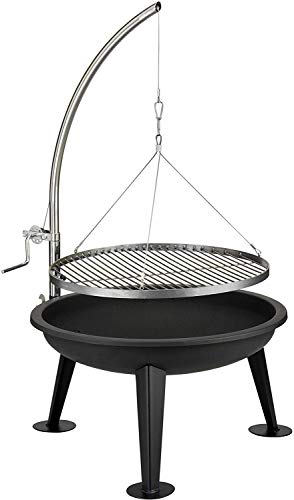 ACTIVA Merlin Grill Grillwagen Holzkohlegrill Grill Barbecue Holzkohle Grillwagen Edelstahlgrill Holzkohle Edelstahl Grill Kohle Grillwagen Kleiner Grill Barbecue Grill