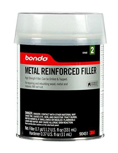 Bondo Metal Reinforced Filler, 90451, 0.7 Pint
