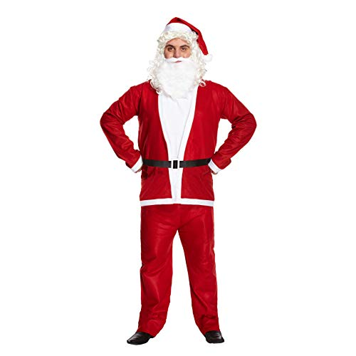 Santa Claus Father Christmas Complete Adults Costume Fancy Dress Xmas Present by Partyrama