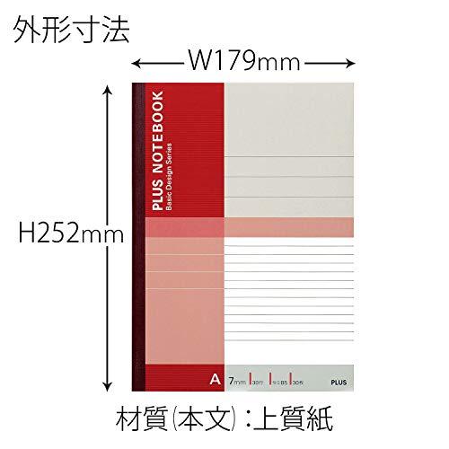 プラスノートセミB5(6号)A罫30枚10冊パックNO-003AJ-10P75-085