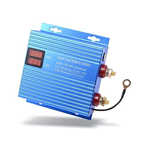 VSKTE 250A Relé automotriz 12V 24V Potencia normalmente abierta para automóvil Interruptor de inicio de automóvil Smart Double Battery Control Aislador Herramienta de motocicleta