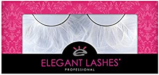 Elegant Lashes F147 Premium White Feather False Eyelashes Halloween Dance Rave Costume
