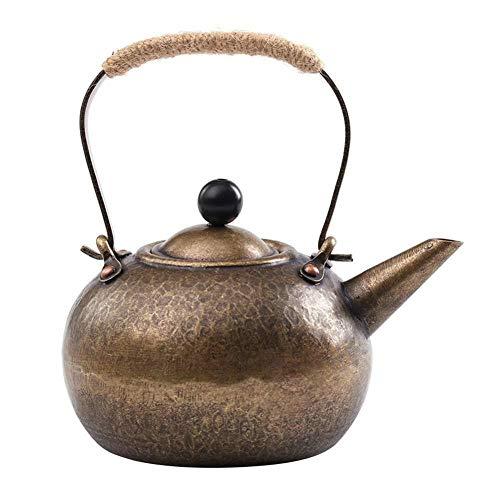 Hervidor Moderno tetera de cobre hecha a mano martillado Engravedcopper Caldera Cocina de quemadores Caja de seguridad Tea Pot de té de hojas sueltas y Blooming té y café KKY