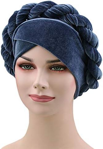 1940s Style Hats   Fascinator, Turban, Fedora Fxhixiy Women Twist Hijab Velvet Hemp Braid Turban Hats Cancer Chemo Beanies Head Scarf Bandana Wrap Headwear Cap  AT vintagedancer.com