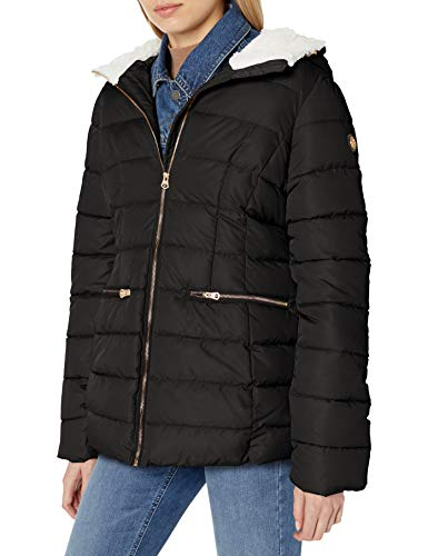 Jessica Simpson Damen Puffer Jacket Daunenalternative, Mantel, Cozy Black, Large