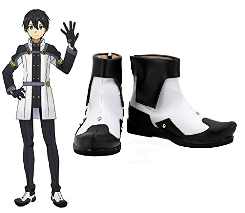 Telacos Sword Art Online Ordinal Escala Kirigaya Kazuto Kirito Cosplay Zapatos Botas Custom Made