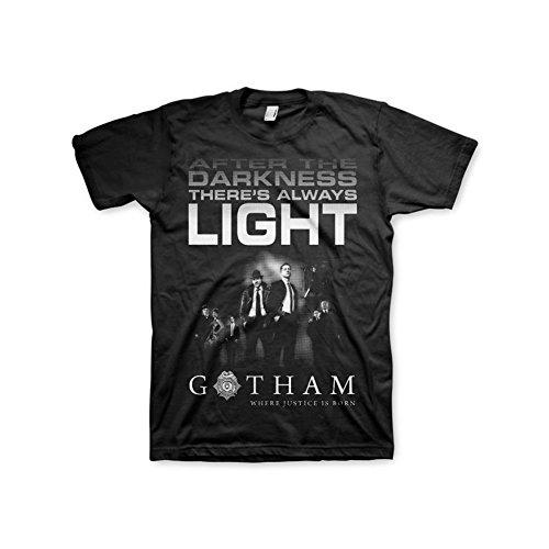 Gotham Offizielles Lizenzprodukt After Darkness T-Shirt (Schwarz), Large