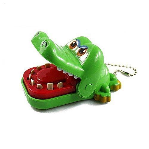 Soccik Krokodil Zahnarzt Spielzeug Kinderspiel Mund Biss Finger Spielzeug Schnap Spiel Krokodil Schlüsselring Schlüsselanhänger Für Kinder Geschenk Zufällige Farbe