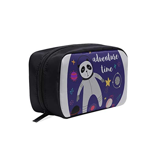 Best Cosmetic Bags For Women Galaxy Space Panda Astronaut Cartoon Best Cosmetic Bags For Women Woman Tool Bag Boy Travel Bag Cosmetic Bags Multifunction Case Washable Cosmetic Bag