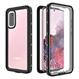 Mpaltor For Samsung Galaxy S20 Waterproof Case, IP68 Dustproof Shockproof Heavy Duty Protection Underwater Cases with Screen Protector (Black)