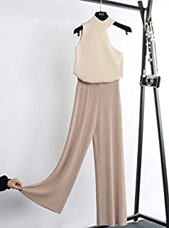 VeroMan ボトムス ニット パンツ レディース ワイド ガウチョ リブ 韓国ファッション