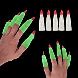 30pcs Martian Witches Fingers Glow in the Dark Fake Fingers for Kids Finger Reading Pointer Trick or Treat Gift for Halloween Party Cosplay Party Costume Accessory