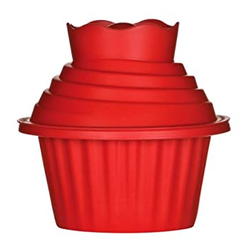 Red Cupcake Mould - Open for Christmas