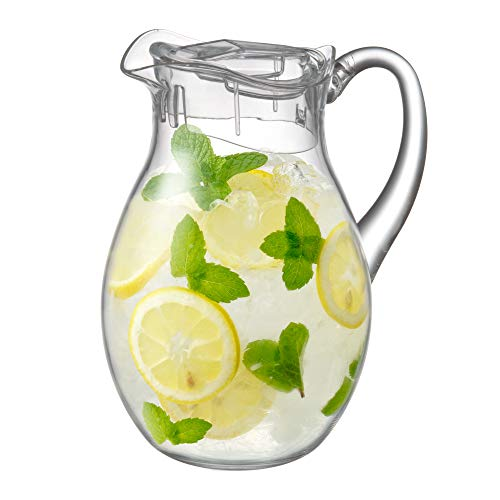 Amazing Abby Bubbly - Acrylic Pitcher (78 oz, 2.4 qt), BPA-Free and Shatter-Proof, Great for Iced Tea, Sangria, Lemonade, and More