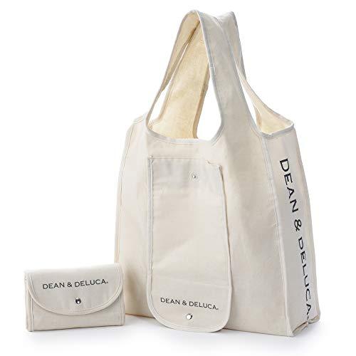 DEAN&DELUCA ショッピングバッグ ナチュラル エコバッグ 折りたたみ 軽量 コンパクト レジ袋 マイバッグ