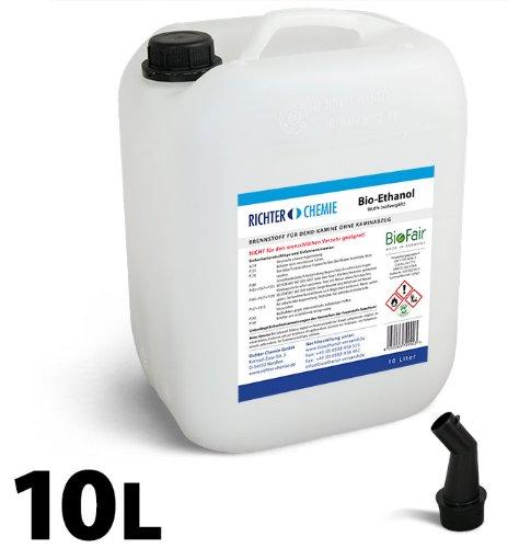 10L Bioethanol 100% - Markenprodukt BioFair® - geprüfte Laborqualität - GRATIS VERSAND