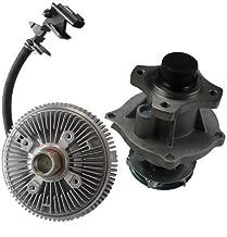 CAROCK Water Pump + Electric Fan Clutch fit 2002-2012 Chevy Hummer GMC Isuzu 2.9L 3.7L 4.2L (AW5097 3201)