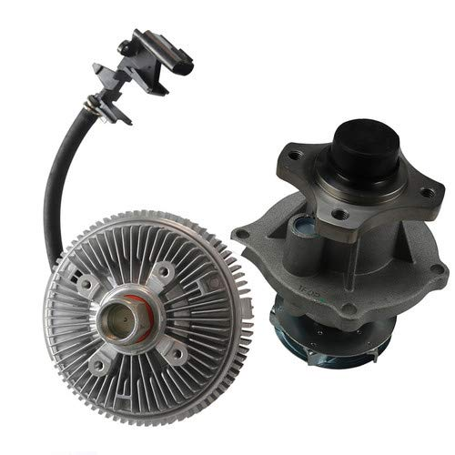 CAROCK Water Pump + Electric Fan Clutch Compatible with 2002-2012 Chevy Hummer GMC Isuzu 2.9L 3.7L 4.2L (AW5097 3201)