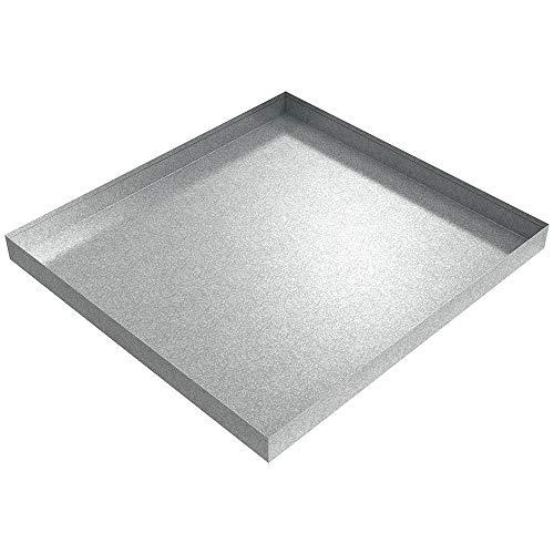 """Washer Drip Pan - 32"""" x 30"""" x 2.5"""" - Galvanized Steel (Galvanized)"""