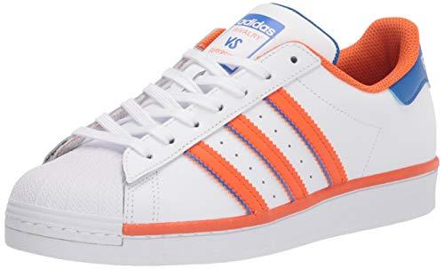 adidas Originals Men's Superstar Trainers, Granite Bright Orange White, 14.5 UK
