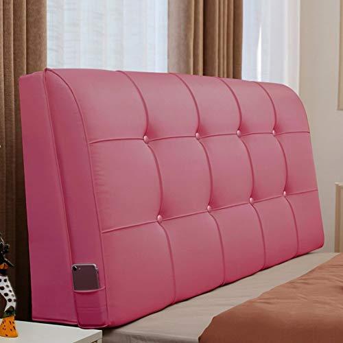 QIANCHENG-Cushion Kopfteil Rückenlehnen Bett Kissen Kopfteil Nachtkissenpolster Doppelbett Multifunktions-Softcase mit großem Rücken, mit Kopfteil/ohne Kopfteil, 6 Farben, 7 Größen