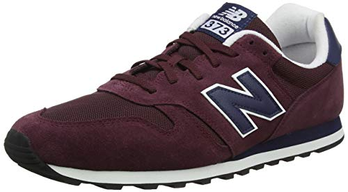 New Balance 373, Zapatillas para Hombre, Rojo (Burgundy/Pigment Pbg), 45.5 EU