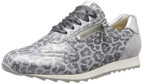 Hassia Damen Barcelona, Weite H Sneaker, Silber (Silber/Stone 7668), 42 EU