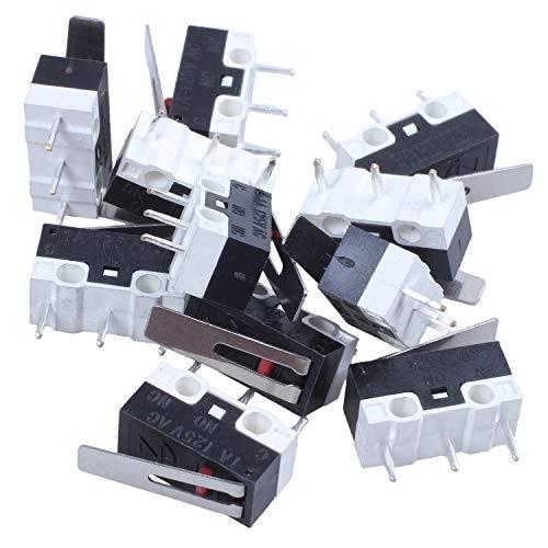 Bayda 11 unids 1NO 1NC SPDT Interruptores de palanca de bisagra larga momentánea AC 125V 1A