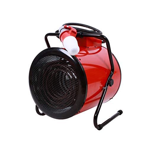 Even rode kleine elektrische verwarmingsverwarming, industriële ventilatorkachel, gedwongen verwarming met thermostaat