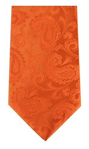 David Van Hagen Paisley orange cravate de