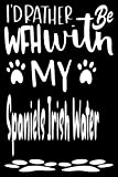 I'd Rather Be WFH With My Spaniels Irish Water: work from home gifts funny, dog lover birthday gift, Spaniels Irish Water gifts for women, men