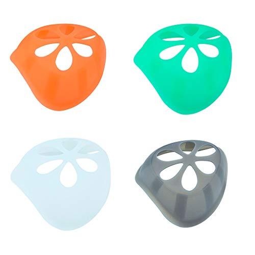 3/4/5 Stück 3D Silikon Maskenhalterung Masken Halterung- Wiederverwendbare Nasenpads für Nase und...