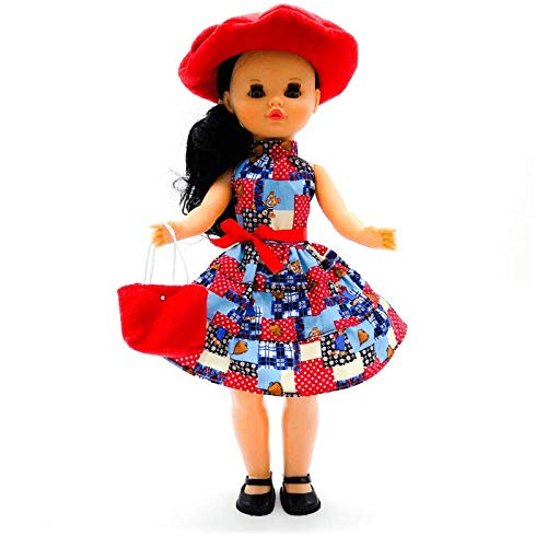 Folk Artesanía Muñeca Sintra 42 cm. con Vestido edición Limitada colección clásica, Fabricado en España Similar Nancy. Mod 02