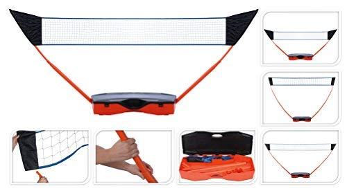 Sportnetz 3 in 1 - Tennis, Volleyball und Badminton in einem - im praktischen Koffer, ideal für unterwegs oder Zuhause!