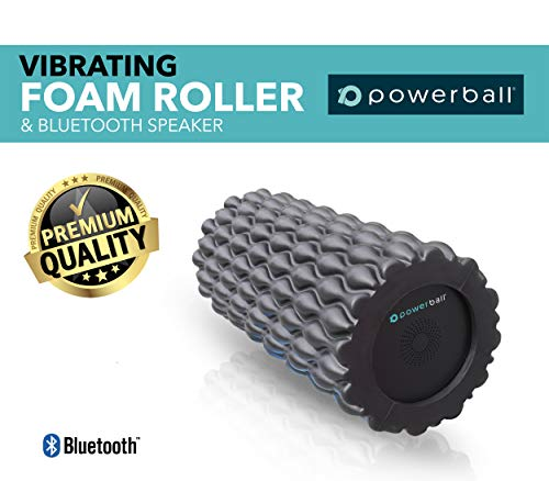 Powerball Vibrating Foam Roller (Intro Sale Price) - 3 in 1 - Vibration - Bluetooth Speaker Dumbbell (Black)
