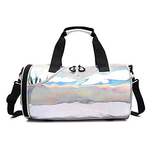 Bolsa ligera resistente al agua para gimnasio, yoga, deporte, viajes, con compartimento para zapatos y bolsillo mojado para mujeres y hombres