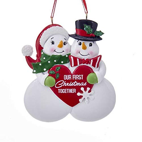Kurt Adler 'OUR FIRST XMAS TOGETHER' ORNAMENT, 3.75 inches