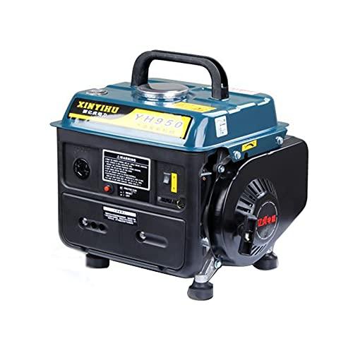 HOUSEHOLD 800W small gasoline generator, portable car camping silent generator, keyless electric start generator, outdoor fuel-saving motor