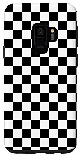 Galaxy S9 Black and White Checkered Checkerboard Print Pattern Case
