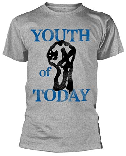 Youth Of Today 'Stencil' (Grigio) T-Shirt