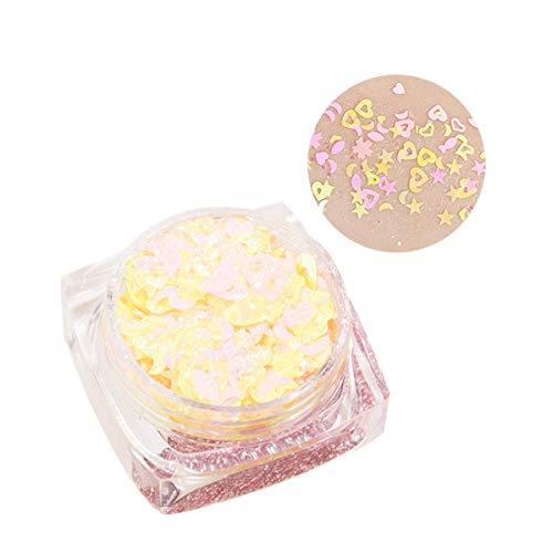 Youdong Maquillage pour les yeux, étoile, gel crème à paillettes,Mélanges de Couleurs Paillettes de Maquillage.Éponge ombre à Paupières, Lot de Poudre Pailletée, Scintillante et Brillante