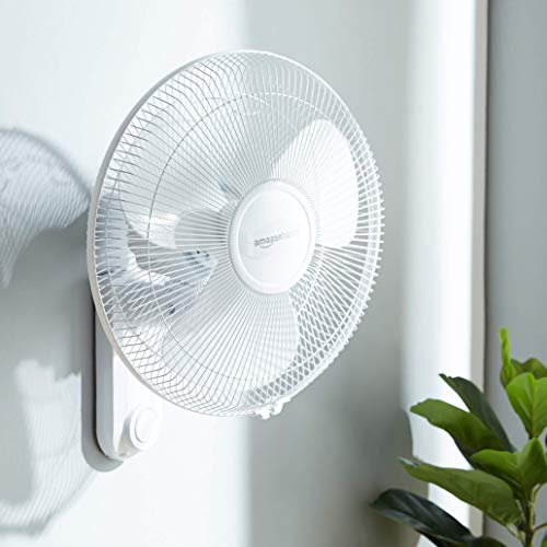 AmazonBasics High Speed Wall Fan for Cooling with Automatic Oscillation (400 MM)