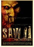 CAIRONG Leinwand Poster Saw Horror Movie