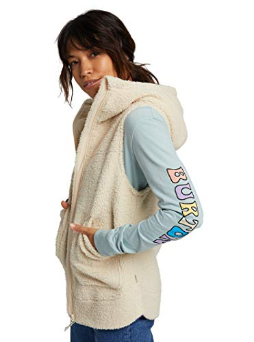 Burton Womens Minxy Vest, Creme Brulee Sherpa, X-Large
