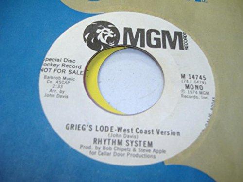 RHYTHM SYSTEM 45 RPM Grieg's Lode-West Coast Version / Same