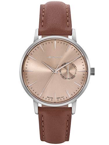 Gant Unisex Erwachsene Analog Quarz Uhr mit Leder Armband W109224