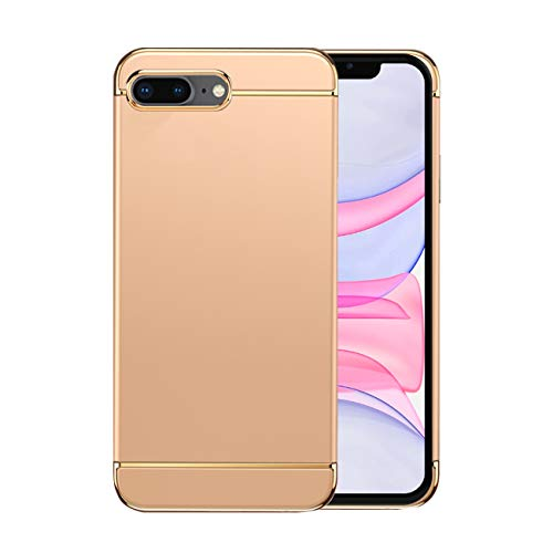 Funda iPhone 8/8 Plus Apple Case,Fundas iPhone 8/8 Plus Antigolpes Carcasa Diseño Minimalista Estuche Rígido Ultra Original Delgado de PC a Prueba (iPhone 8 Plus, Dorado)