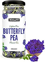 YOGAFY Organic Butterfly Pea Flower Tea | Helps in Skin Repair | 30 Gram - 75 Cups |