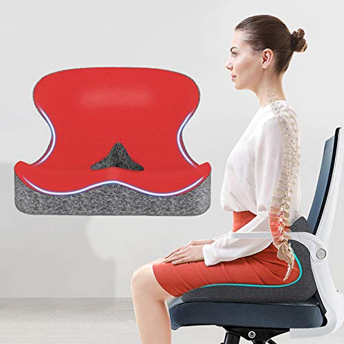 Xin Hai Yuan Memory Foam Seat Cushion Orthopedic Pillow Coccyx Office Chair Cushion Hip Car Seat Wheelchair Hips Massage Vertebrae Seat Pad