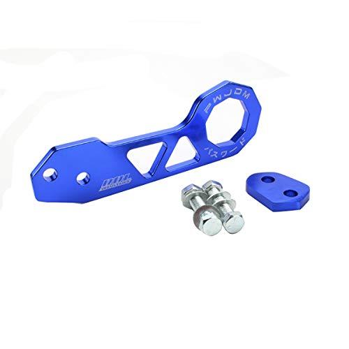 Mallalah Barra de Remolque Universal Remolque Bastón Aleación de Aluminio Remolque Delantero Juego de Orejas para Automóvil Gancho de Remolque de Coche (Azul)